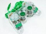 [绿光]K-800 USB透明单打震动游戏手柄