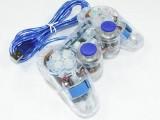 [蓝光]K-800 USB透明单打震动游戏手柄