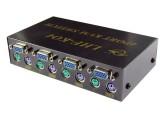 LHF-K04四口KVM/PS2 手动多电脑切换器