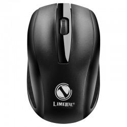 [黑色]Q5力镁2.4G商务办公台式机笔记本无线鼠标