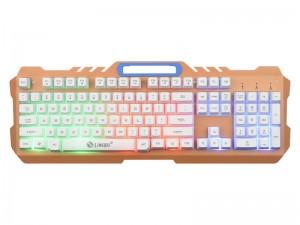 [白色金属彩虹发光]K21力镁金属风暴游戏竞技专用键盘