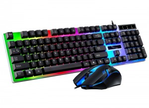 [U+U黑色]新G21B 追光豹游戏商务办公游戏键鼠套装