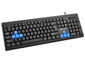 [PS2]K20贝索思商务办公游戏竞技圆孔键盘